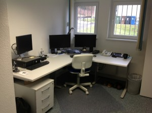 David's new office