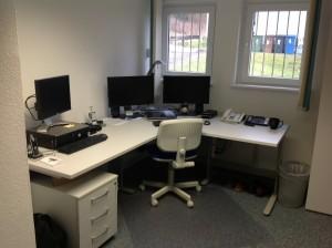 David's new office